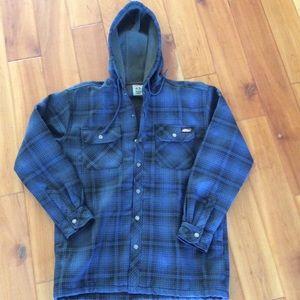 Dickies flannel fleece lined jacket size M 38 - 40